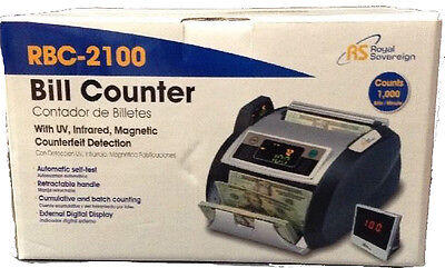 RS Bill Counter UV Infrared Magnetic Counterfeit Detector RBC-2100 +Drimark Pens