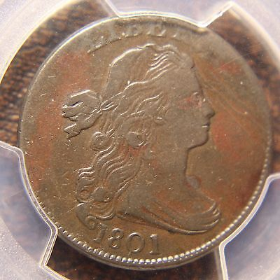 1801 Draped Bust Large Cent S-213, PCGS VF-20