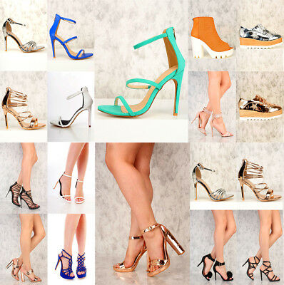 RX1 NIB 75 Womens Wholesale Lot Mix High Heel Platform Evening Pump Sandal Shoes