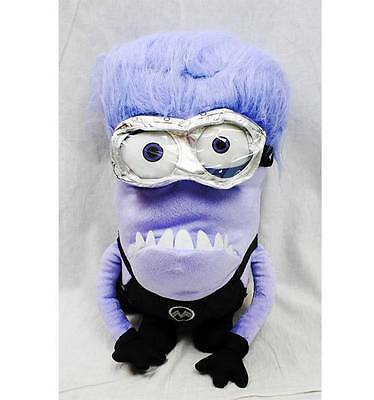 NWT Despicable Me 2 Evil Purple Minions Plush 14 Inch Backpack Doll Licensed 2