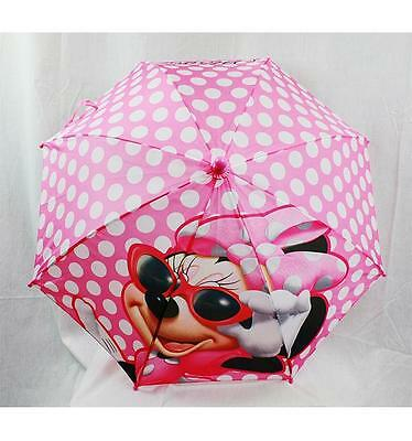 NWT Minnie Mouse Umbrella by Disney Pink Polka Dots For Sunny or Rainy Days