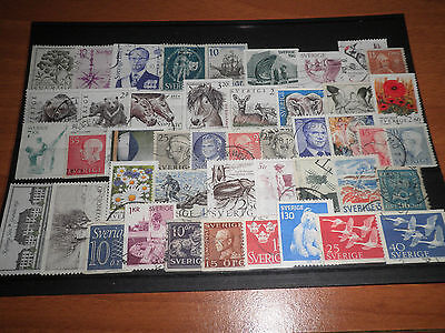 Sweden 45 Different Stamps Used Lot (Cat.5)