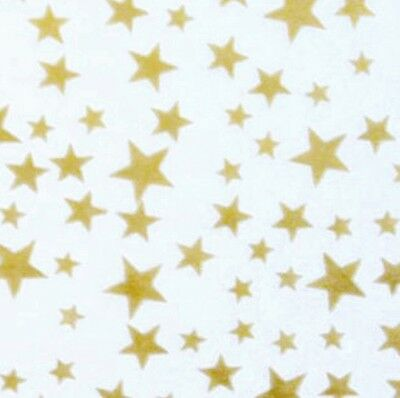 Gold Stars On White Tissue Paper Gift Wrap 30x20 inches (Pack of 5 Sheets)