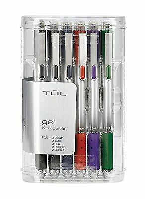 TUL Retractable Gel Pens 0.5 mm Fine Point Assorted 12/pk