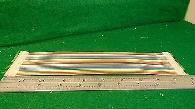 (1) 22 Conductor 10 Inch Ribbon Cable with Headers NOS