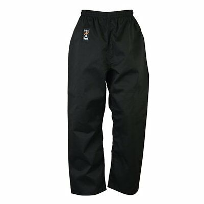 Playwell Karate Cotton Trousers Black Bottoms Adults Childrens Kids Pants Gi