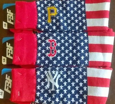 MLB Baseball Stars & Stripes Team Logo Men's Socks