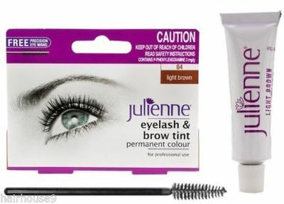 JULIENNE Eyelash & Brow Tint Included Free Brush - Light Brown