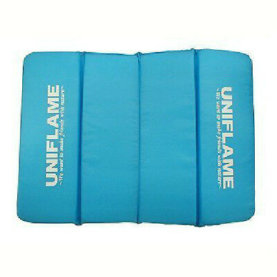 New UNIFLAME Portable Folding Japanese Cushion Zabuton Blue