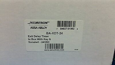 Securitron BA-XDT-24 Exit Lock Delay Timer in Box With Key & Sonealert 24VDC