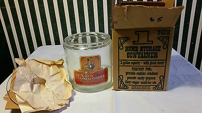 Dads Cookies Cookie Jar Made By Anchor Hocking 1 Gallon Nib