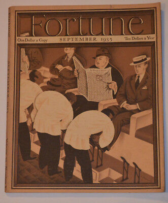 Vintage Sep 1935 Fortune Magazine! Black Shoeshine Men At Work Cover! Great Ads!