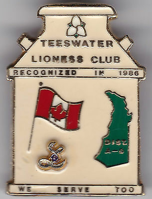 1986 Teeswater Lioness Club Pin