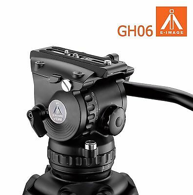 Eimage 75MM Bowl Fluid video head payload 6kg tripod GH06