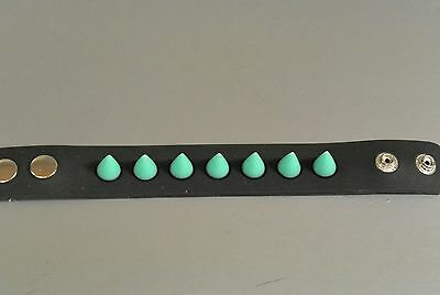 Rubber Spike Style Bracelet Glow In The Dark Punk Goth Club