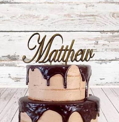 Personalised custom Acrylic cake toppers 1 name or word Lots of fonts available