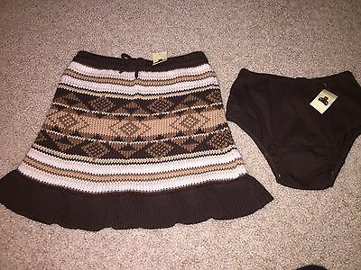Nwt Baby Gap Girls Copper Mountain Brown Sweater Skirt Size 5