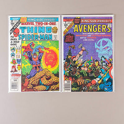 Marvel Two-in-One Annual #2 + Avengers Annual #7, 1977, FN/VF Thanos Cross-over