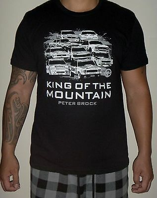 Peter Brock King Of The Mountain Black T-Shirt - Large - Bathurst Winners Print