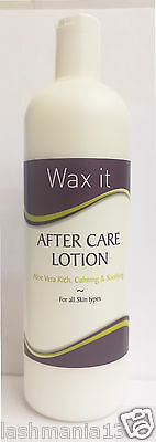 Wax It Professional After Care Lotion Aloe Vera Rich, Calming & Soothing 500ml