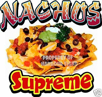 Nachos Supreme Chips Concession Restaurant Mexican Food Truck  Decal 14""
