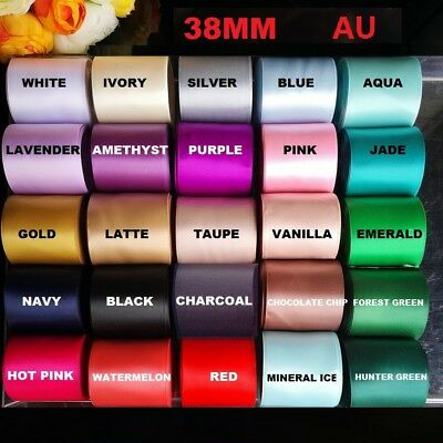 1-5.5Meter Good Quality Double Side(faced)  Satin Car Ribbon 38mm