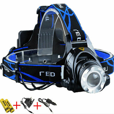 L2 15000lm LED Zoom Headlight Torch Headlamp Head Light Lamp + Charger + 18650