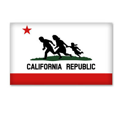 California Republic Illegal Immigrants Immigration Funny Vinyl Car Sticker Decal