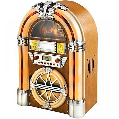 Jukebox FM Radio iPAD iPOD MP3 Bluetooth LCD Party Disco Retro Old School Player