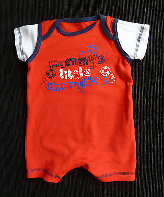 Baby clothes BOY 0-3m George football red romper NEW! SEE MY SHOP! combine post!