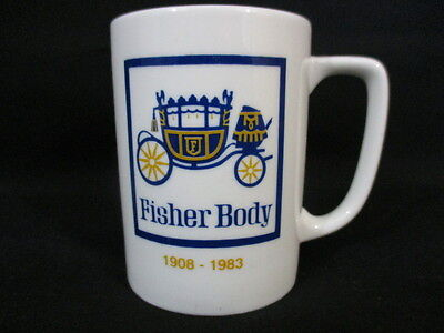 Fisher Body 1908-1983 Coffee Cup, Car Plant in Norwood OH, Closed in 1983