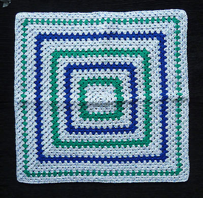 Baby clothes BOY newborn 0-1m quality handmade crochet blanket cot SEE MY SHOP!
