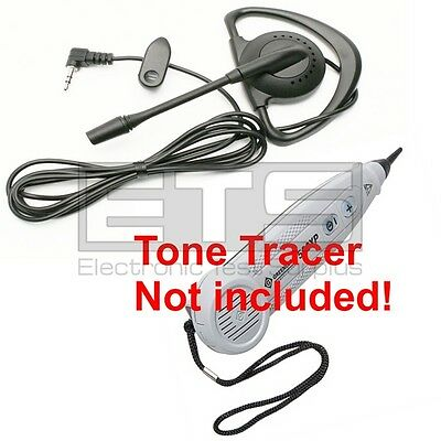 GreenLee Tele-Mate Tone Tracer 500XP Hands Free Mini Headset 4ft Cord 2.5mm Plug