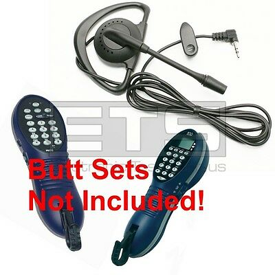 GreenLee Tempo Tele-Mate PE810 PE830 Butt Set Hands Free Headset 4ft Cord 2.5mm