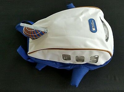 Continental Airlines Kids Backpack Airplane Shaped - Extremely Rare Collectable