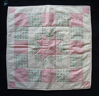 Baby clothes GIRL newborn 0-1m quality handmade patchwork quilt pink cot floral
