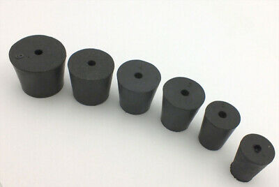 Rubber Laboratory Stoppers 1 & 2 hole Assortment in Sizes:1 2 3 4 5.5 6 RS-ASST3