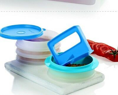 New TUPPERWARE Hamburger Press & Keepers Set Grilling Burgers Patties maker $31