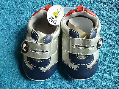 Baby clothes BOY 12-18m quality blue football 1st walk trainers/shoes BRAND NEW