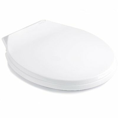 Luxury Soft Close White Oval Toilet Seat Slow Closing WC NEW Easy Clean Washroom