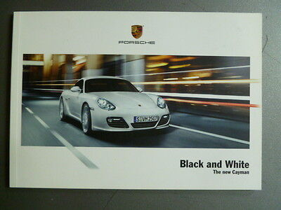 "2008 Porsche Cayman ""Black & White"" Showroom Advertising Sales Brochure RARE"