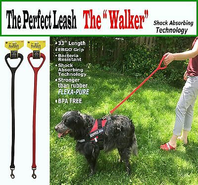 "SERVICE DOG LEASH - The ""Walker"" - 33"" Leash -Superior control & Comfort"
