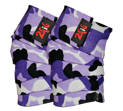 2Fit KNEE WRAPS CAMO WEIGHTLIFTING TRAINING LEG KNEE  BANDAGE STRAP CAMOUFLAGE R