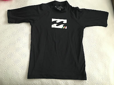 Billabong Unisex Short Sleeve Black Rash Guard - Youth size 16