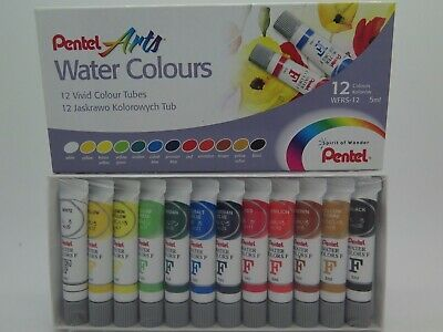 Pentel  Water Colour Paint Set 5ml 12/Pack WFRS-12*^