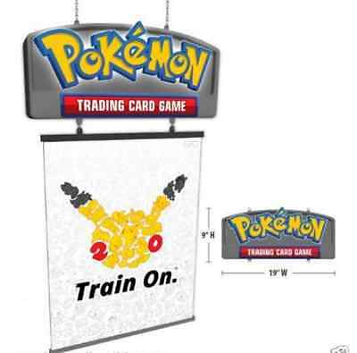Pokemon 20th Anniversary Lighted LED sign. Collectible store display. NEW sealed