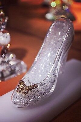 "Disney Parks Authentic ""cinderella Crystal Filled Slipper"" By Arribas"