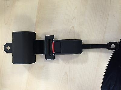 Universal retractable lap belt BLACK c/w fixings