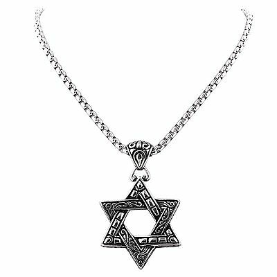 MODOU Fashion 316L Silver Stainless Steel Star Pendant Necklace With Box Chain