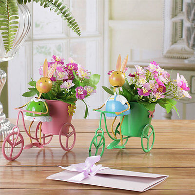 Tricycle Bicycle Flower Pot Planter Container Metal Basket Sculpture Iron